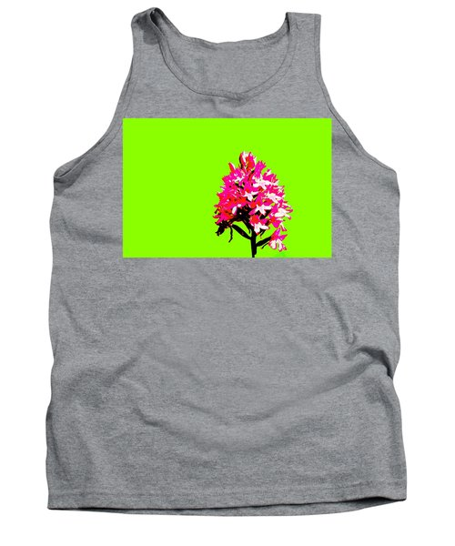 Green Pyramid Orchid Tank Top by Richard Patmore