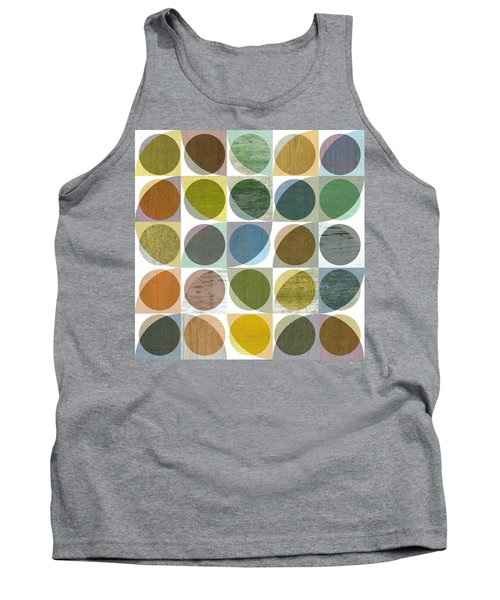 Tank Top featuring the digital art Quarter Circles Layer Project Three by Michelle Calkins