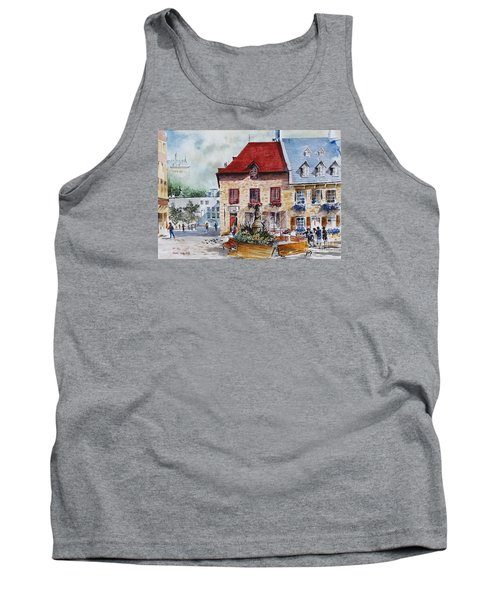 Quebec City Flower Boxes Tank Top