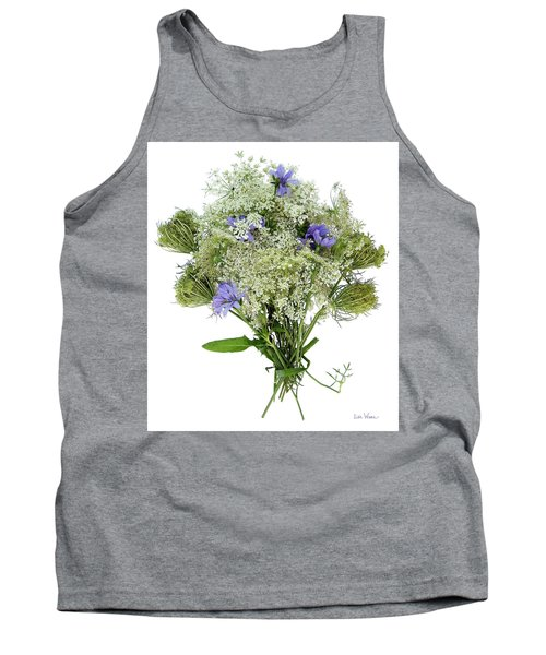 Queen Anne's Lace With Purple Flowers Tank Top