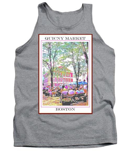 Quincy Market, Boston Massachusetts, Poster Image Tank Top