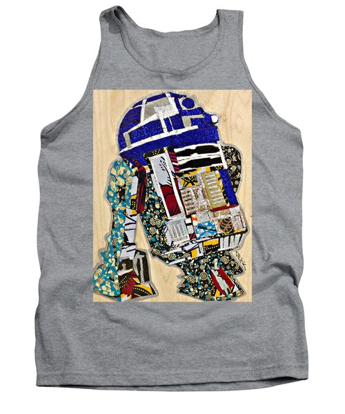 Tank Top featuring the tapestry - textile R2-d2 Star Wars Afrofuturist Collection by Apanaki Temitayo M