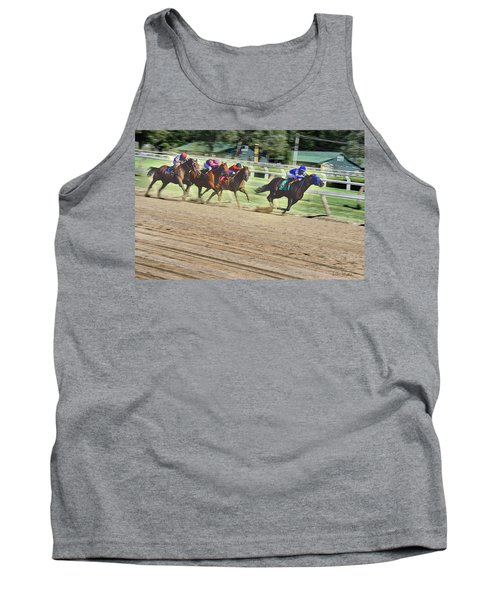 Race Horses In Motion Tank Top