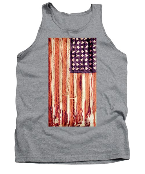 Ragged American Flag Tank Top by Jill Battaglia
