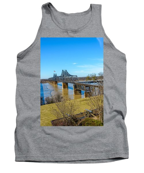 Tank Top featuring the photograph Rail Road Bridge by Jerry Cahill