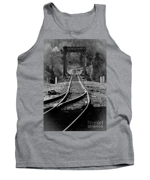 Tank Top featuring the photograph Rails by Douglas Stucky