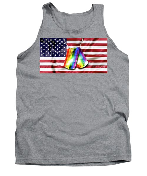 Rainbow Dog Tags Tank Top