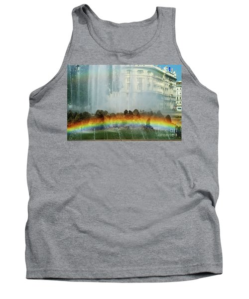 Tank Top featuring the photograph Rainbow Fountain In Vienna by Mariola Bitner