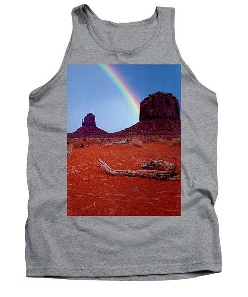 Rainbow In Monument Valley Arizona Tank Top by Merton Allen