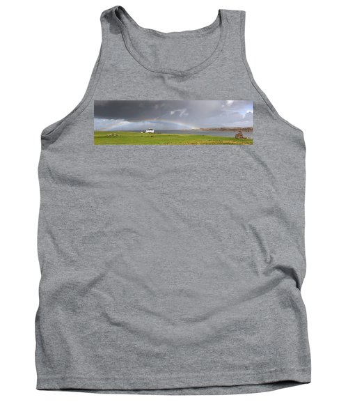 Rainbow, Island Of Iona, Scotland Tank Top
