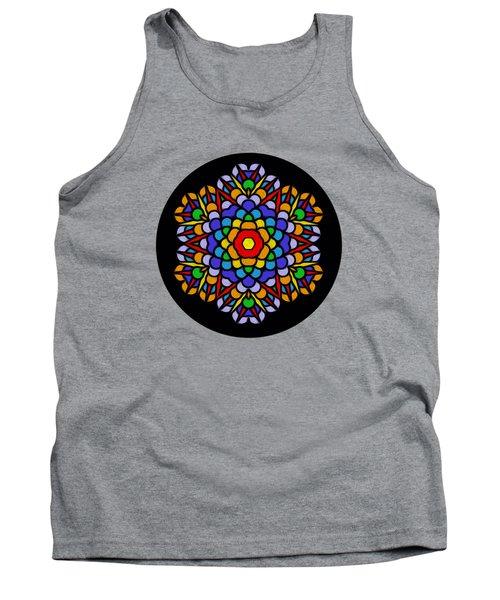 Rainbow Mandala By Kaye Menner Tank Top by Kaye Menner