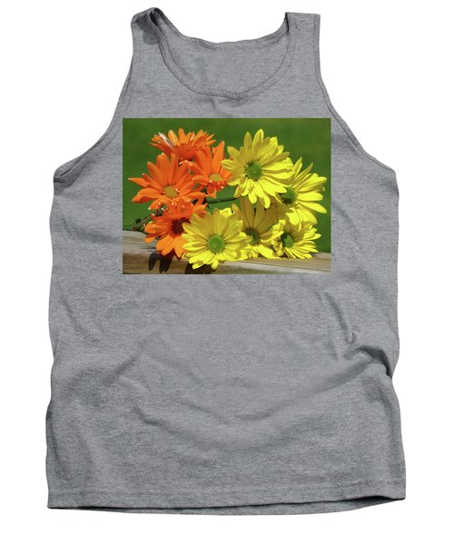 Rainbow Mums 4 Of 5 Tank Top by Tina M Wenger
