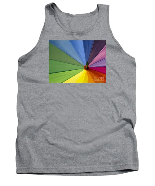 Tank Top featuring the photograph Rainbow Umbrella by Inge Riis McDonald