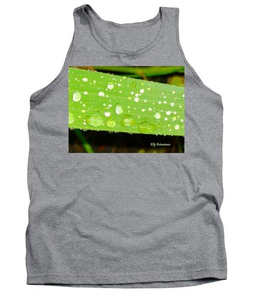 Raindrops On Leaf Tank Top