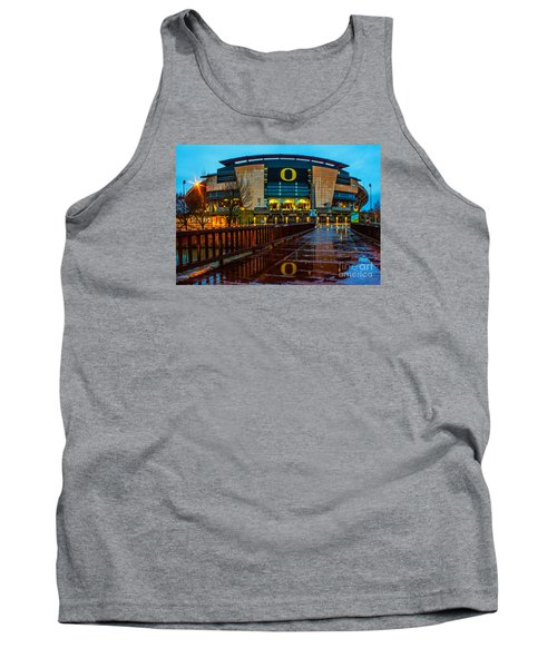 Rainy Autzen Stadium Tank Top by Michael Cross