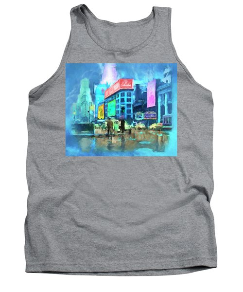 Rainy Night In New York Tank Top by Michael Cleere