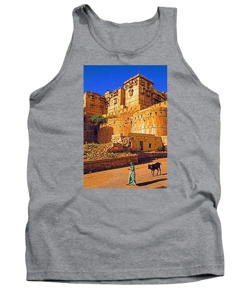 Tank Top featuring the photograph Rajasthan Fort by Dennis Cox WorldViews