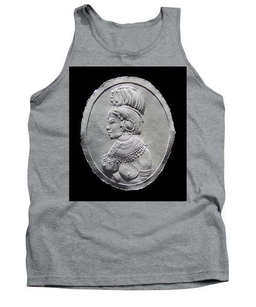 Randille Tribe Woman Relief Drawing Tank Top