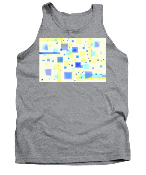 Tank Top featuring the digital art Random Blips by Shelli Fitzpatrick