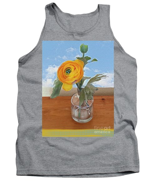 Tank Top featuring the digital art Ranunculus Spring by Alexis Rotella