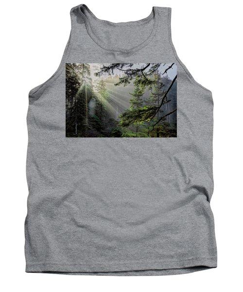 Rays Through An Oregon Rain Forest Tank Top