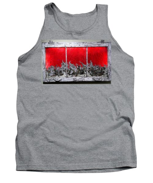 Red And White Window # 1 Tank Top