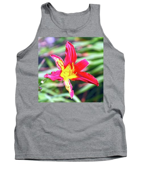 Red And Yellow Orchid Tank Top
