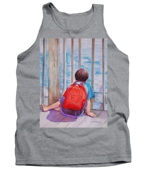 Red Backpack Tank Top