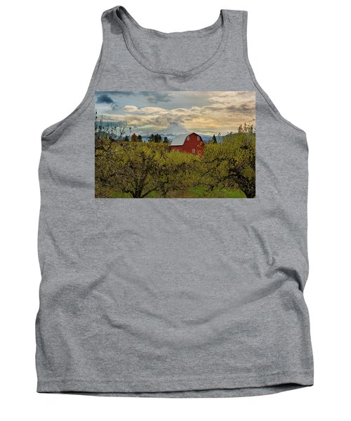 Red Barn At Pear Orchard Tank Top