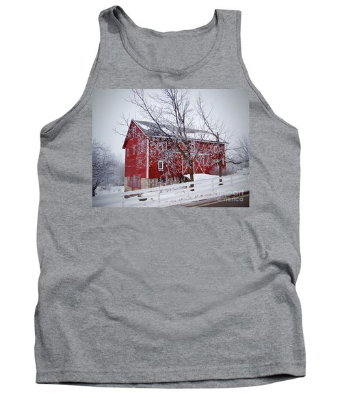 Red Barn Circa 1876 Tank Top by Sue Stefanowicz