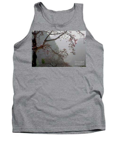 Red Blossoms  Vietnam  Tank Top by Chuck Kuhn
