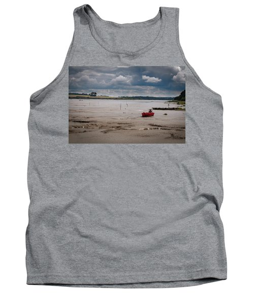 Red Boat On The Mud Tank Top
