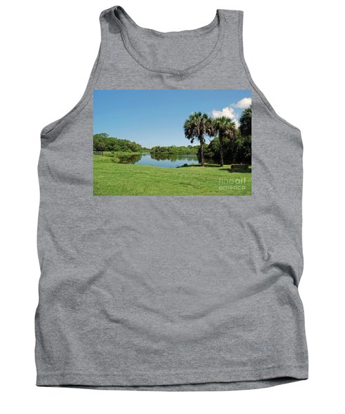 Tank Top featuring the photograph Red Bug Slough by Gary Wonning