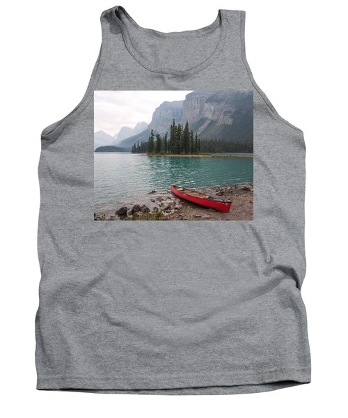 Red Canoe Tank Top by Catherine Alfidi