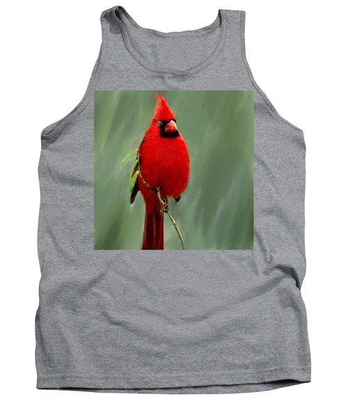 Red Cardinal Painting Tank Top