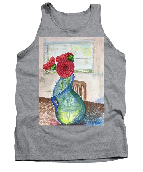 Red Carnations Tank Top