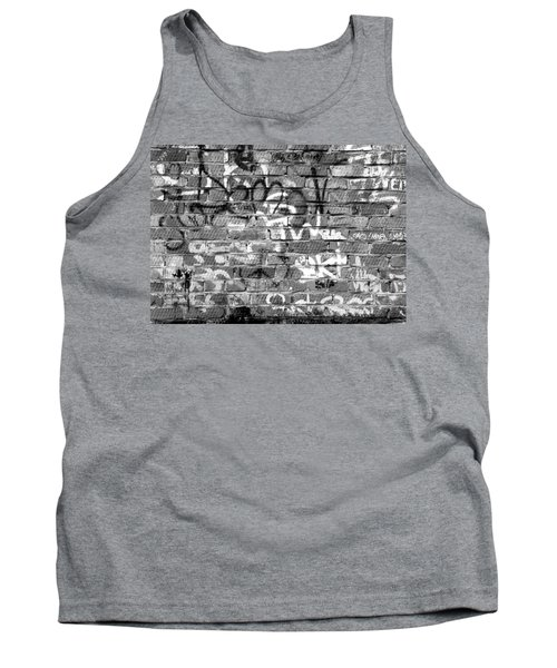 Red Construction Brick Wall And Spray Can Art Signatures Tank Top