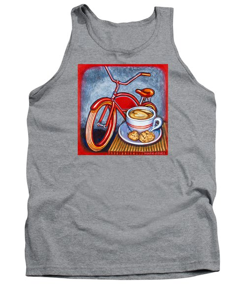 Red Electra Delivery Bicycle Cappuccino And Amaretti Tank Top