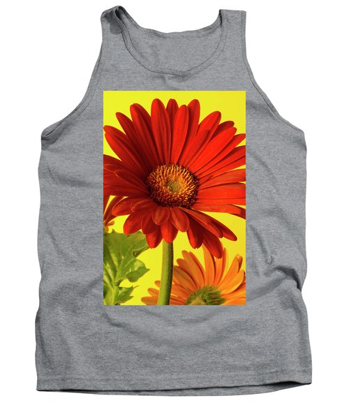 Red Gerbera Daisy 2 Tank Top by Richard Rizzo