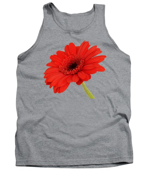 Red Gerbera Daisy 2 Tank Top by Scott Carruthers