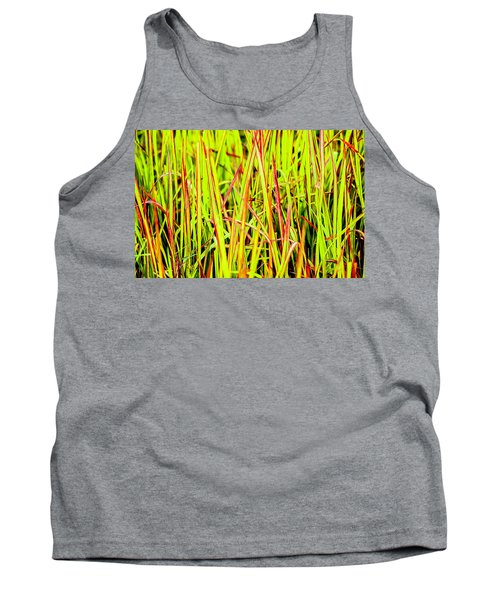 Red Green And Yellow Grass Tank Top