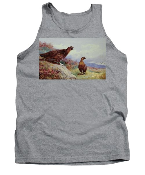 Red Grouse On The Moor, 1917 Tank Top by Archibald Thorburn