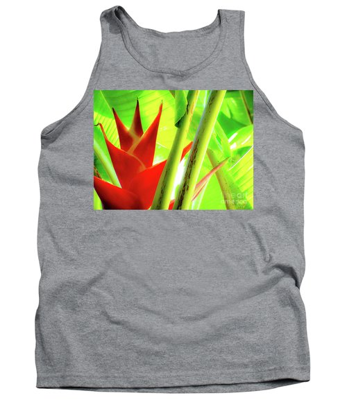 Red Heliconia Tank Top