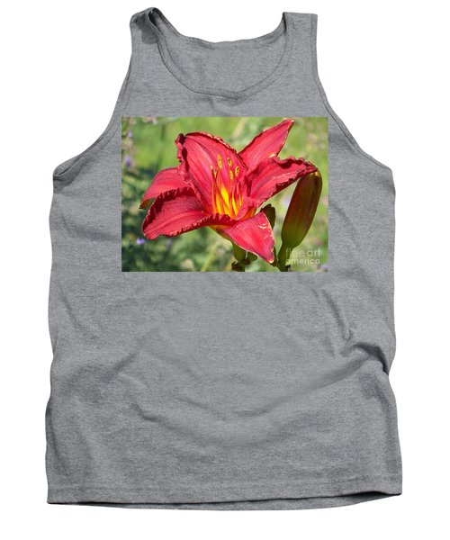 Tank Top featuring the photograph Red Flower by Eunice Miller