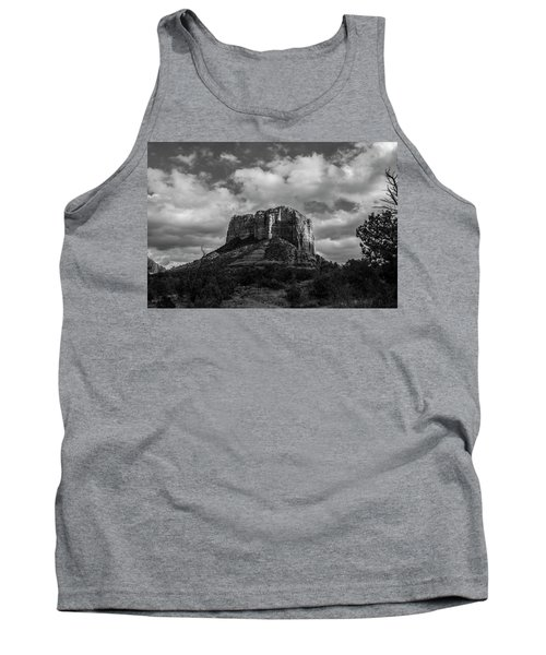 Tank Top featuring the photograph Red Rocks Sedona Bnw 1 by David Haskett