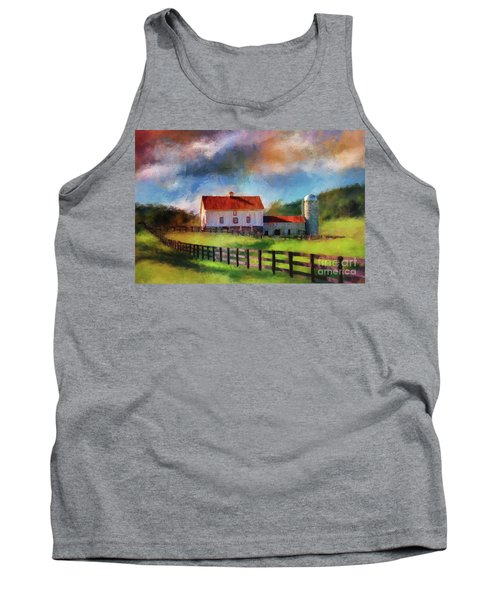 Red Roof Barn Tank Top
