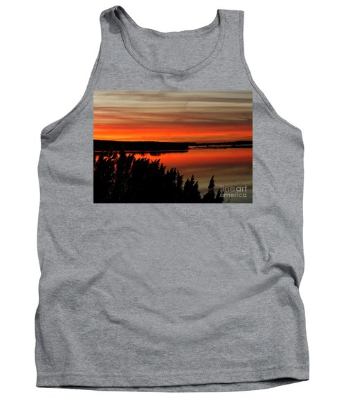 Red Sky On The Illinois River Tank Top