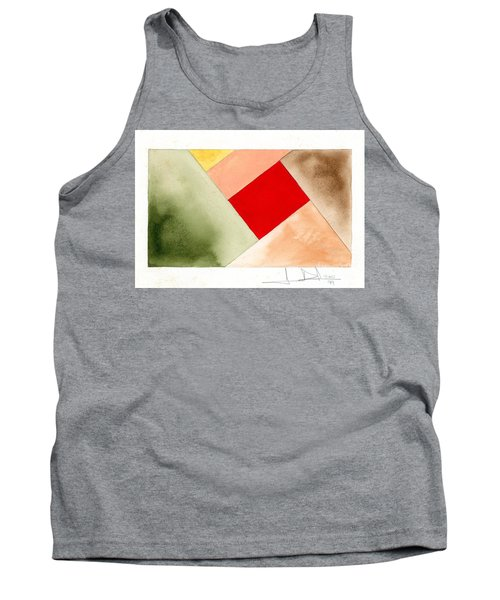 Red Square Tanned Tank Top