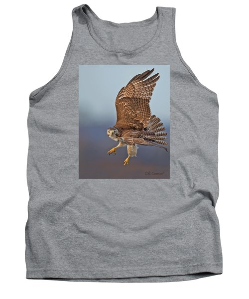 Red-tailed Hawk In Flight Tank Top