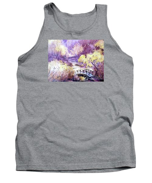 Red Top Mountain Bridge Tank Top
